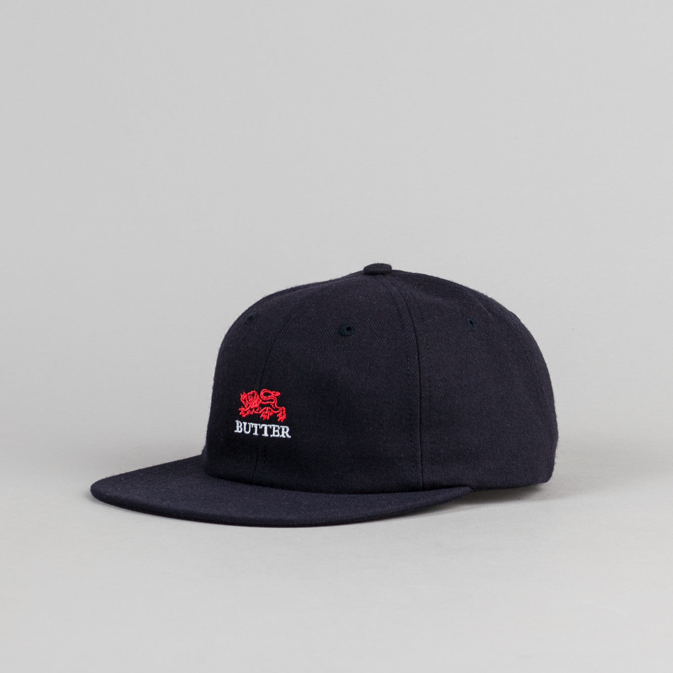 Butter Goods Lion Cap - Navy