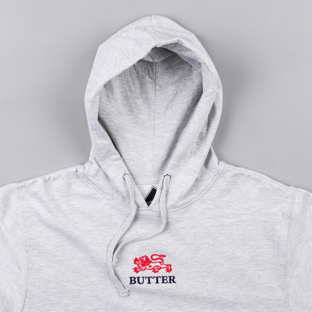 Butter Goods Lion Hooded Sweatshirt - Heather Grey