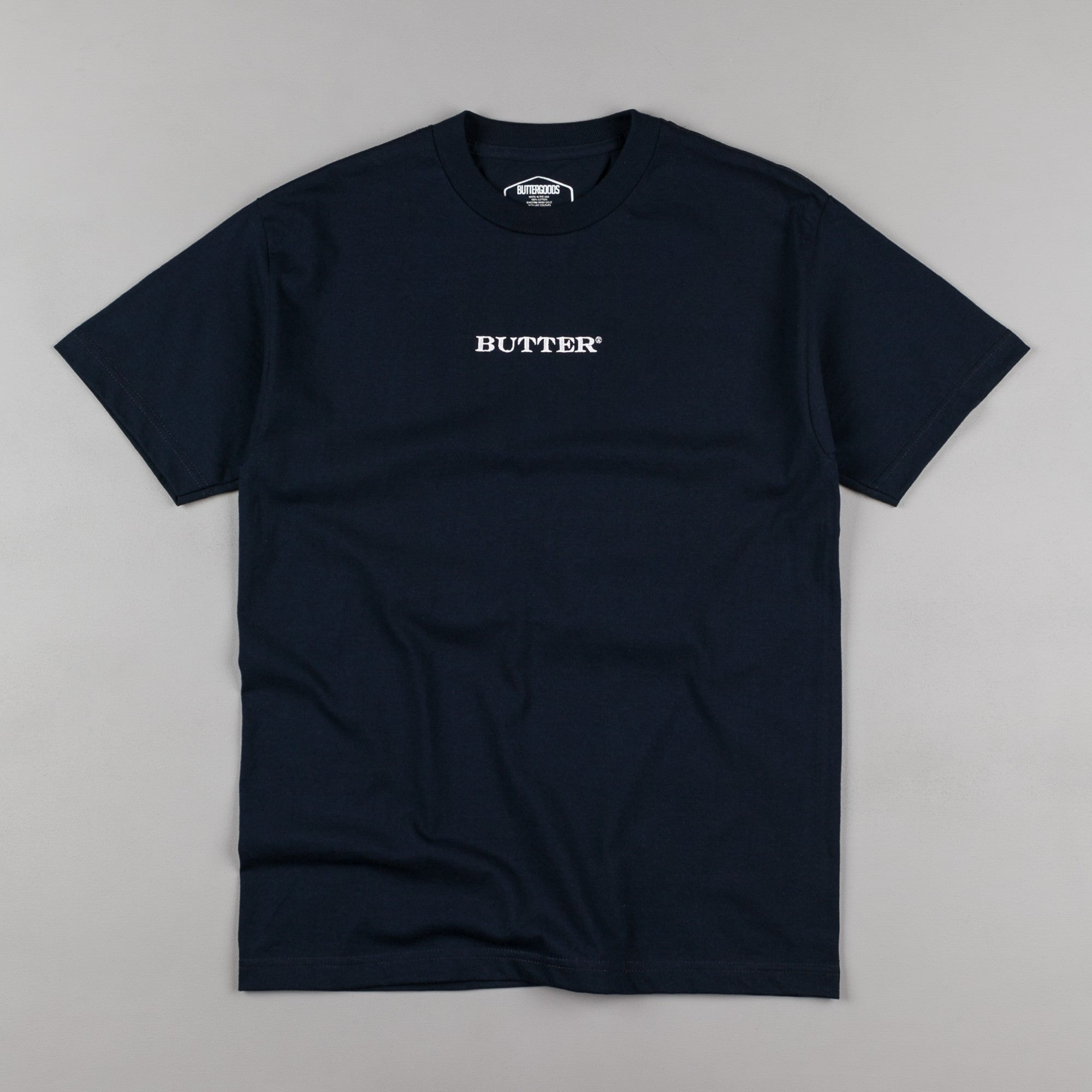 Butter Goods Milan Embroidery T-Shirt - Navy