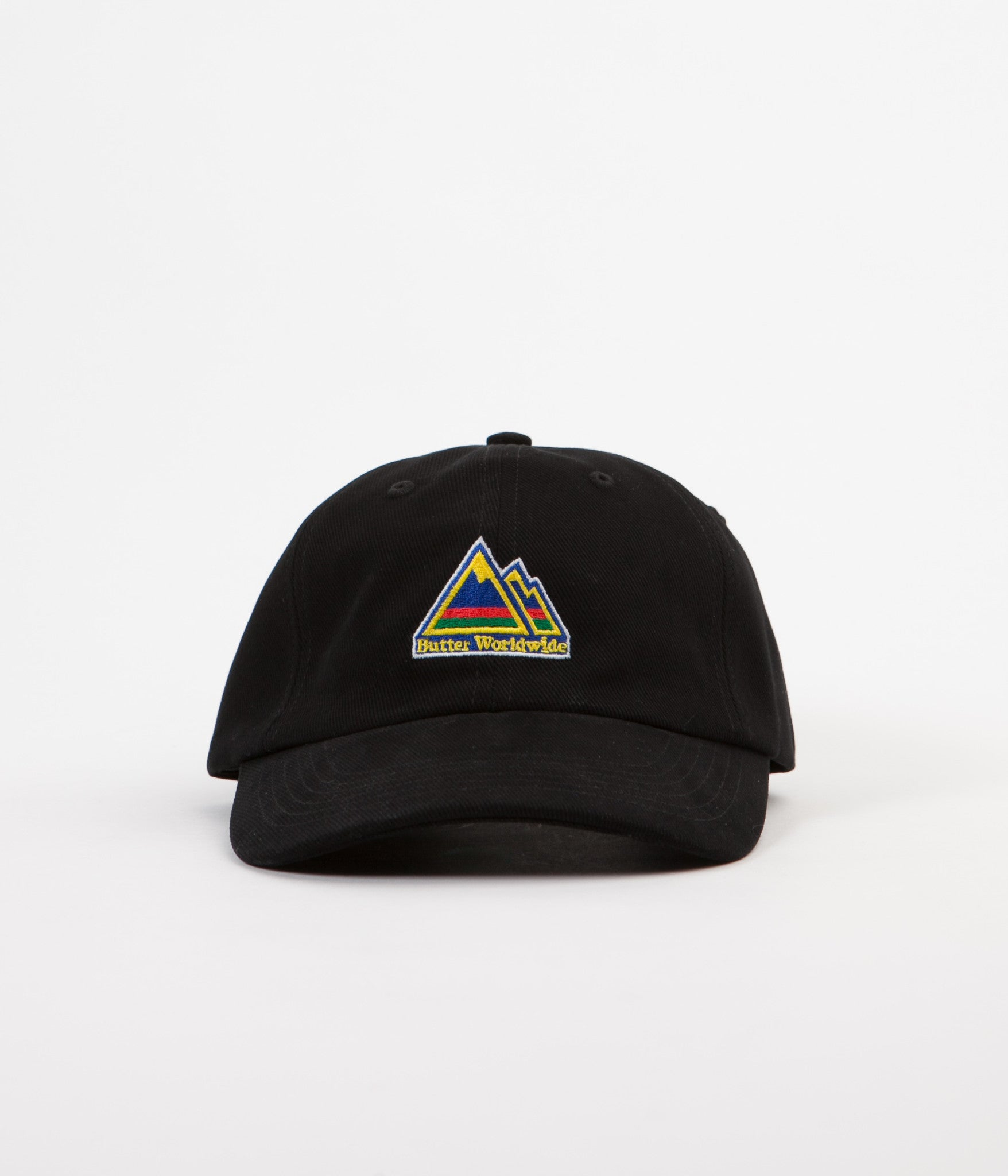 Butter Goods Mountain 6 Panel Cap - Black