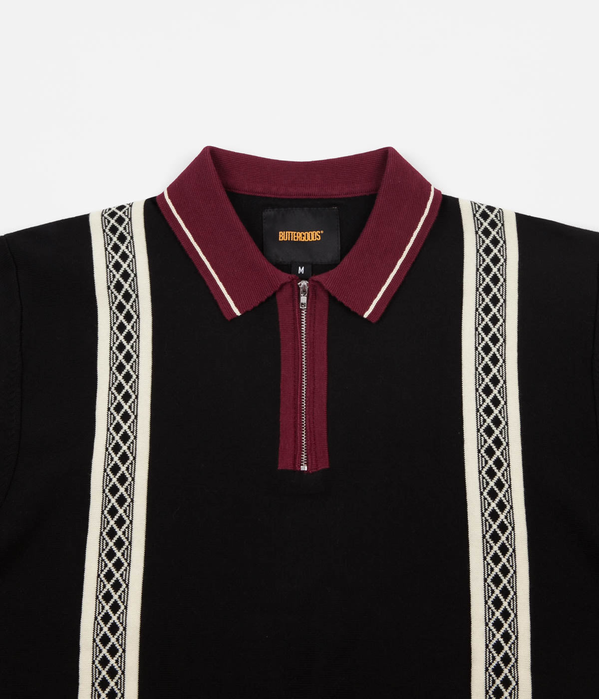 Butter Goods Newark Zip Polo Shirt - Black