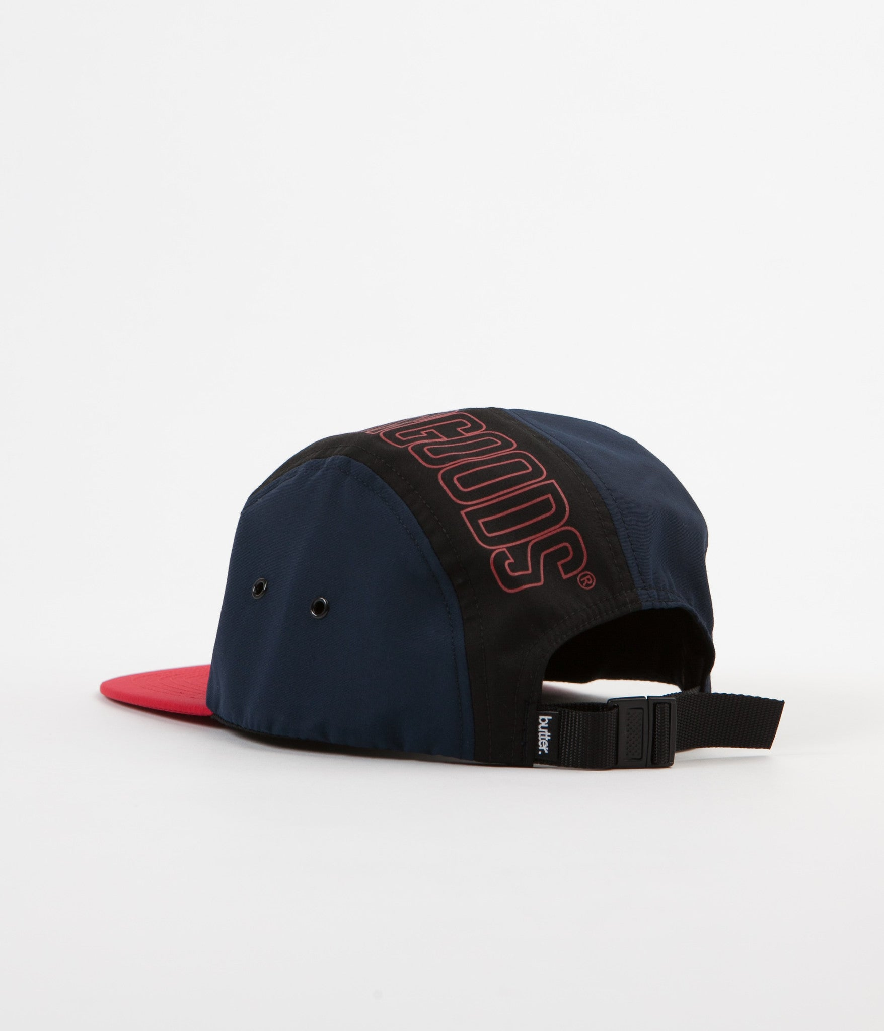 Butter Goods Outline 5 Panel Cap - Navy / Mango / Red