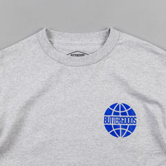 Butter Goods Pacific Worldwide Logo T-Shirt - Heather Grey