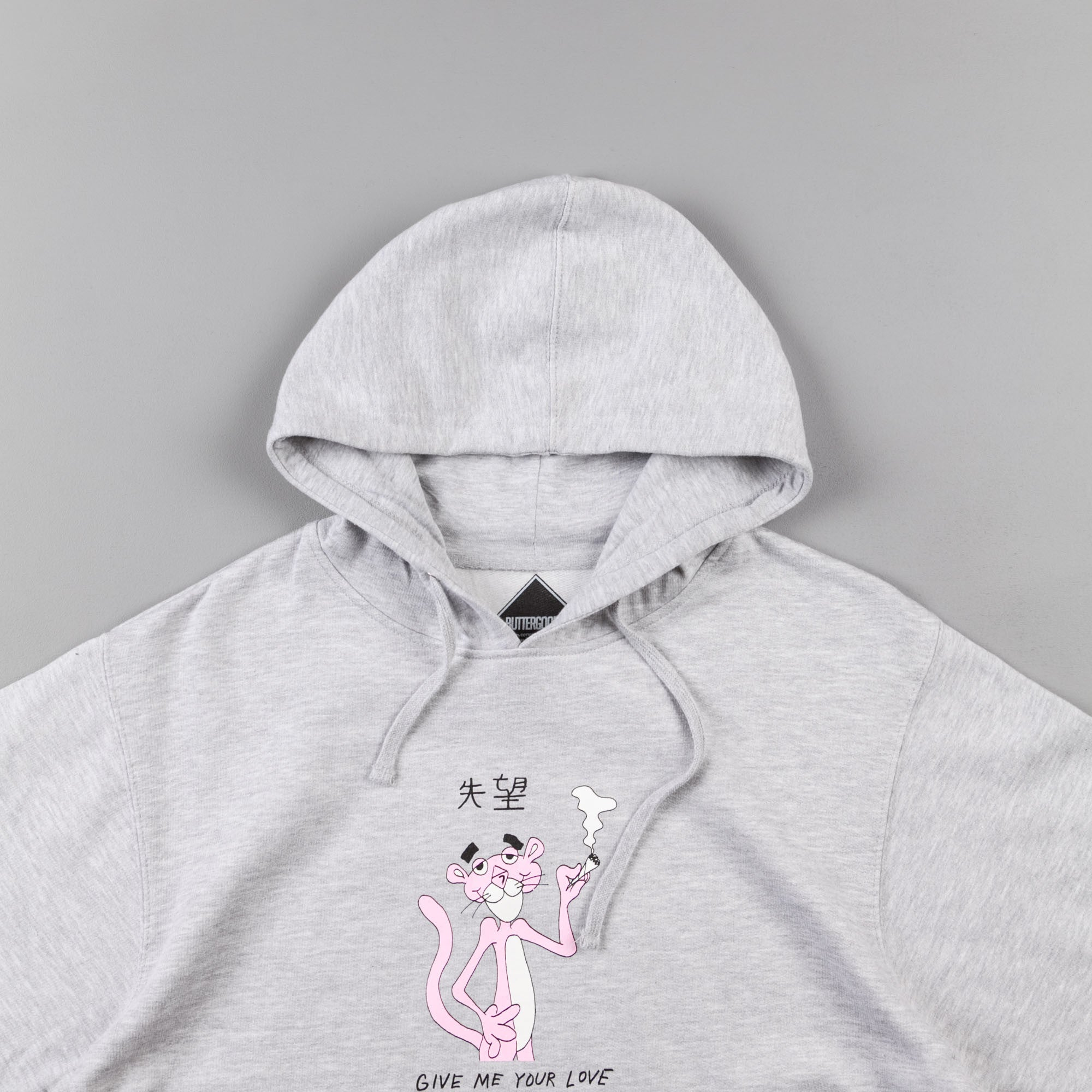 Butter Goods Panther Hooded Sweatshirt - Heather Grey