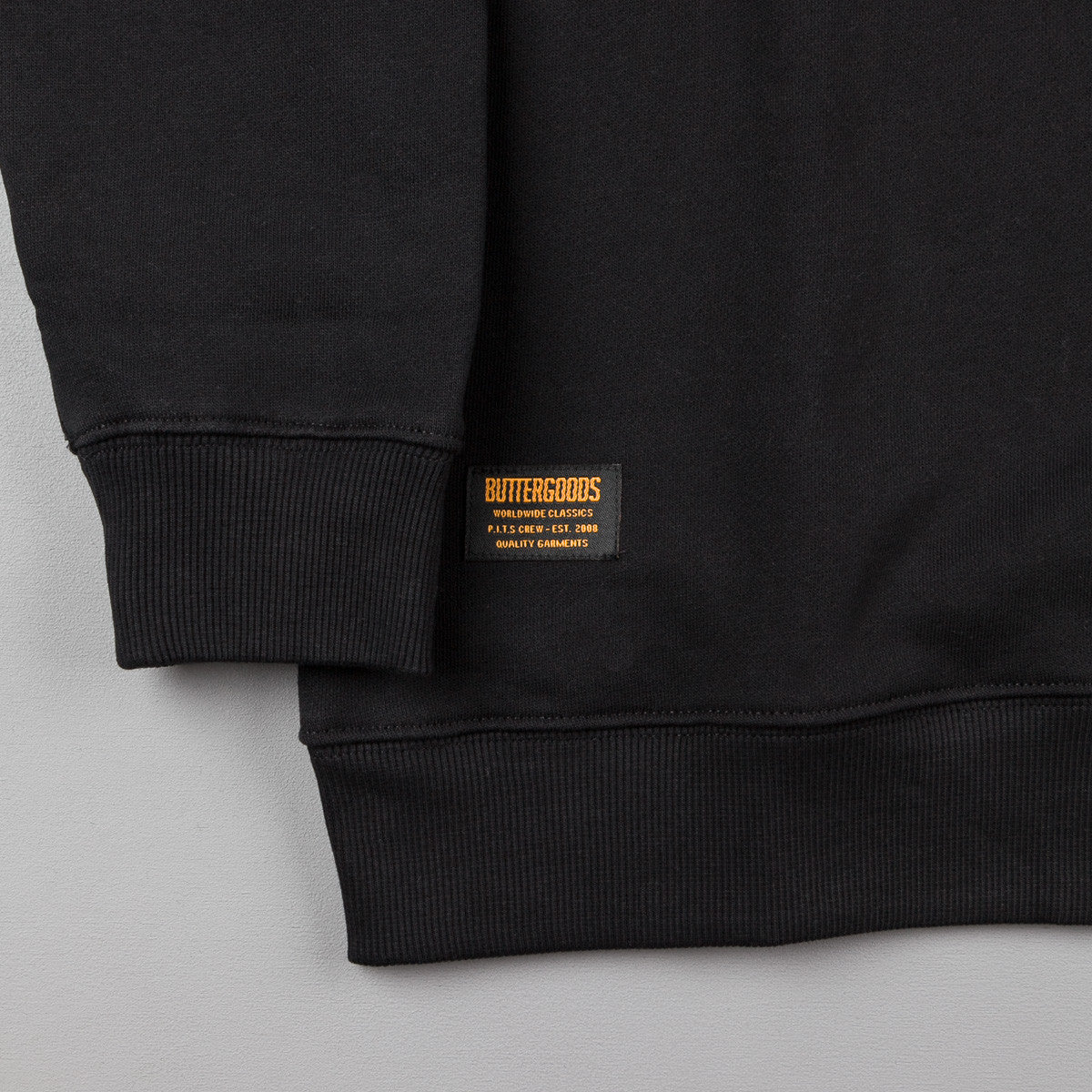 Butter Goods Milan 1/4 Zip Pullover Jacket - Black