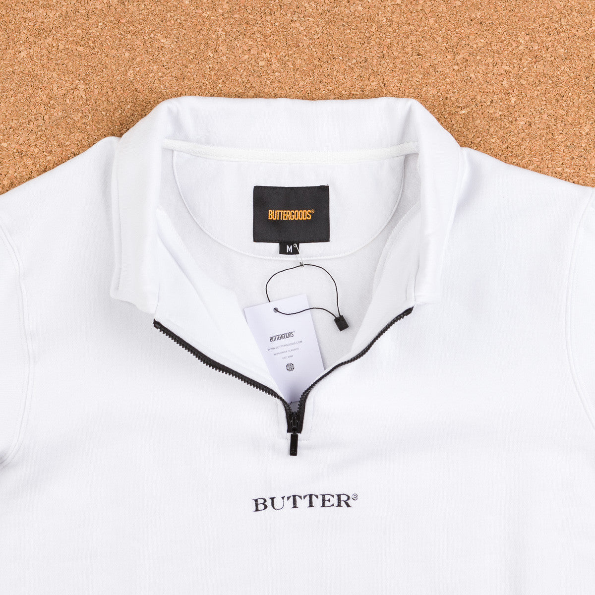 Butter Goods Milan 1/4 Zip Pullover Jacket - White