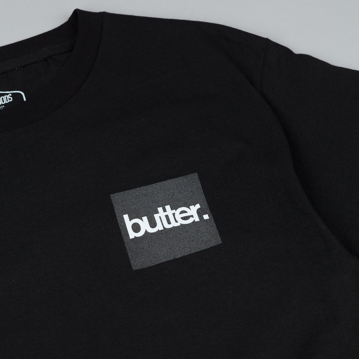Butter Goods Reflective OG Logo T-Shirt - Black