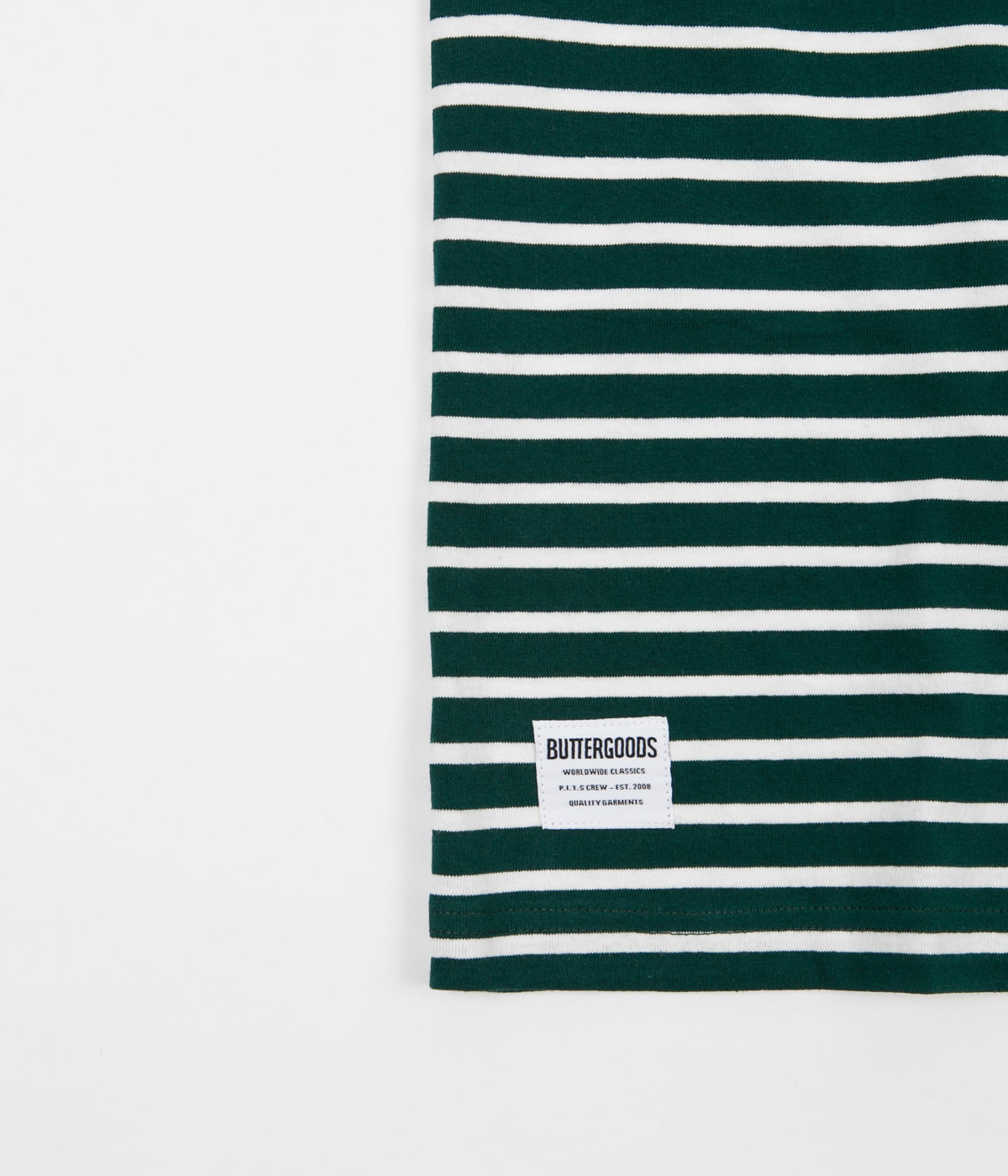 Butter Goods Rose Stripe T-Shirt - Forest