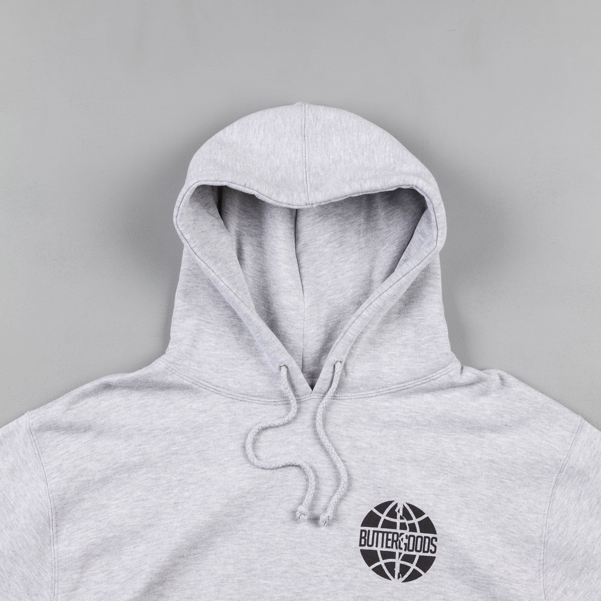 Butter Goods Scan Worldwide Logo Hooded Sweatshirt - Heather Grey