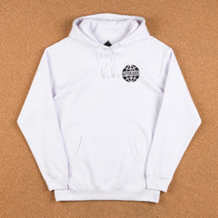 Butter Goods Scan Worldwide Logo Hooded Sweatshirt - White