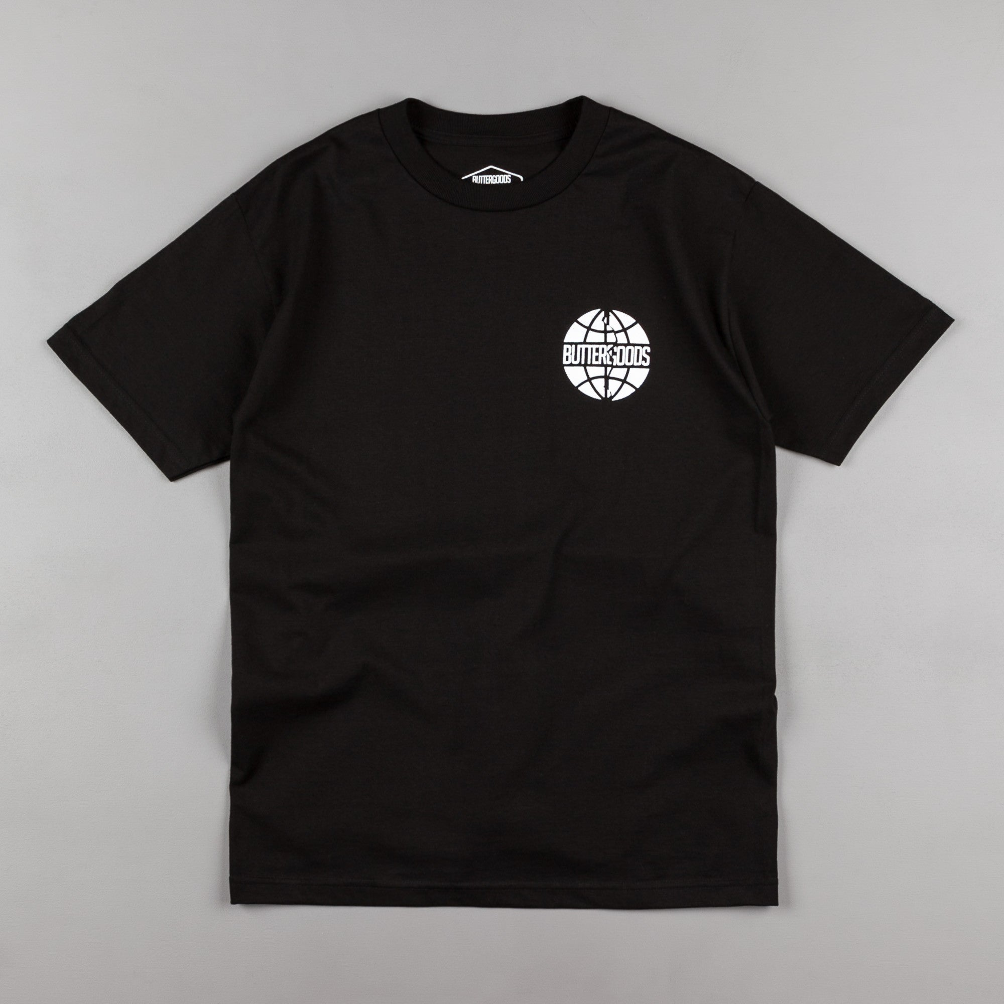Butter Goods Scan Worldwide Logo T-Shirt - Black