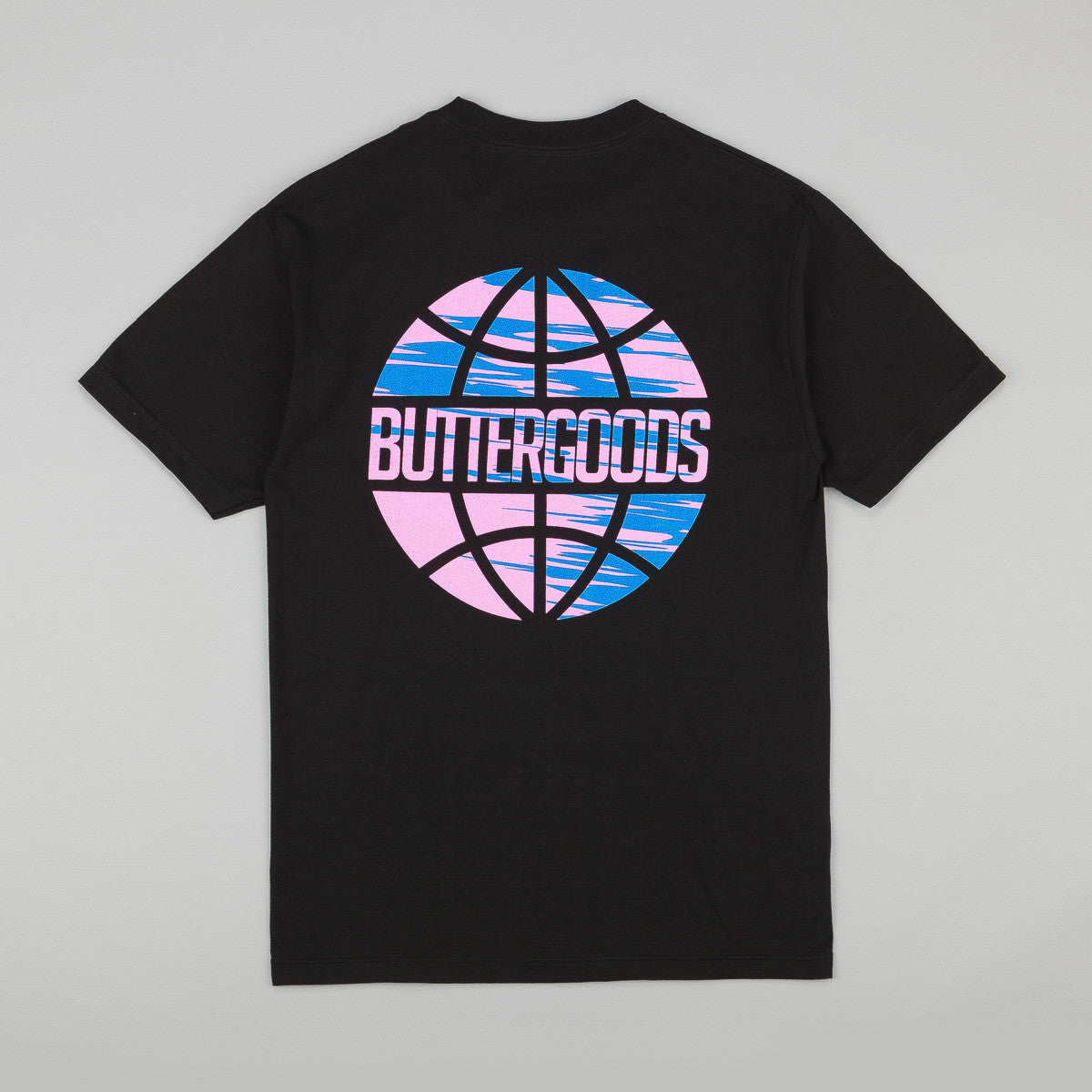 Butter Goods Sports Worldwide Logo T-Shirt - Black