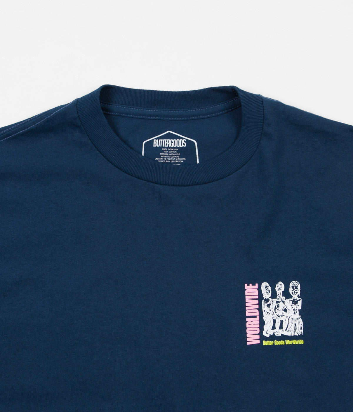 Butter Goods Temple T-Shirt - Harbour Blue
