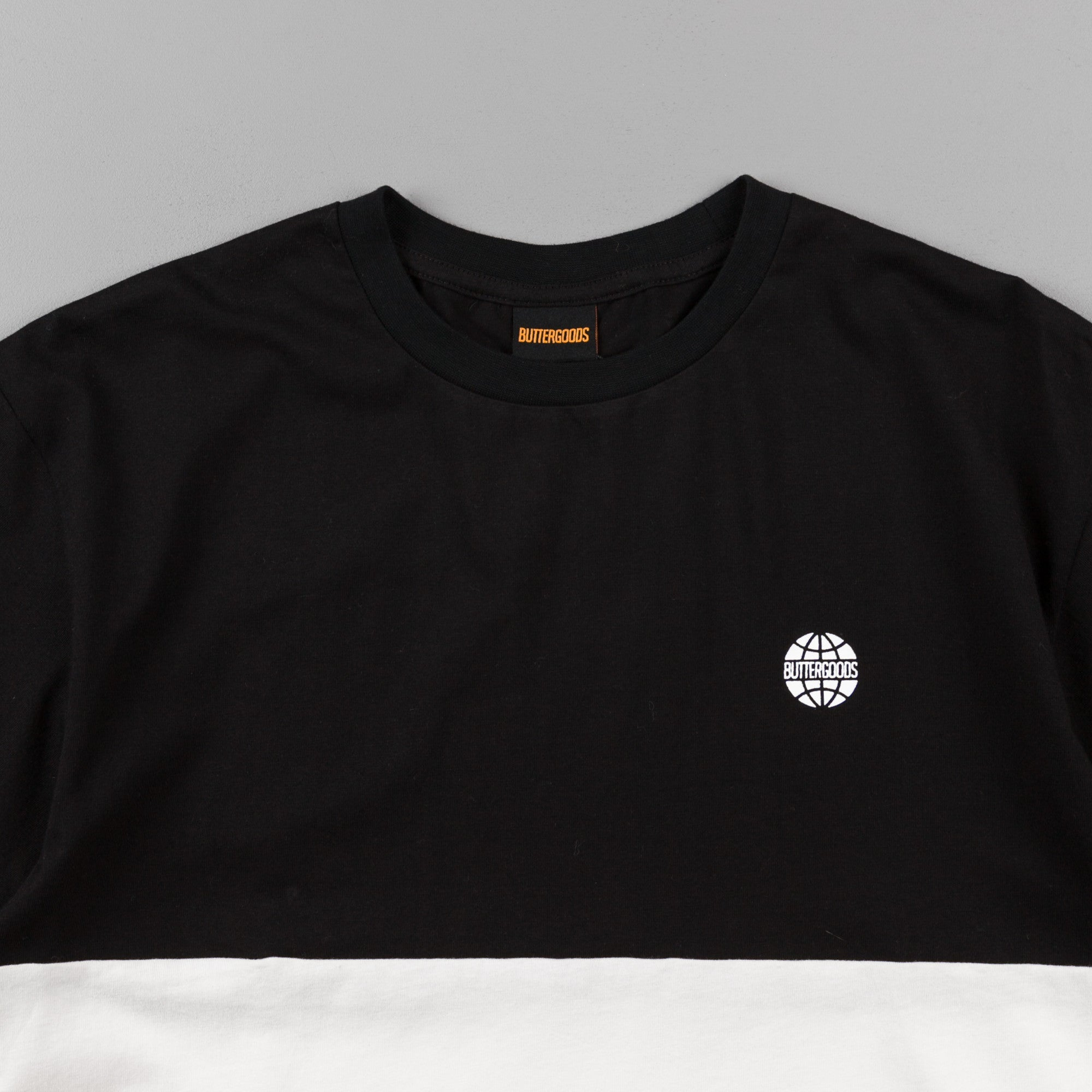 Butter Goods Tri-Block T-Shirt - Black / White / Yellow