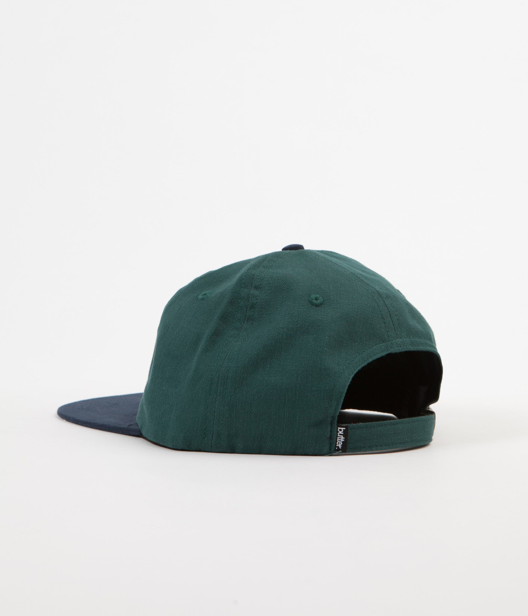Butter Goods Two Tone Classic Logo 6 Panel Cap - Forest / Navy