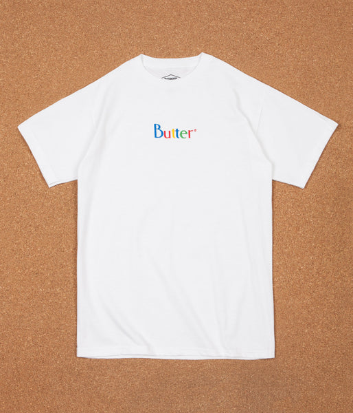 Butter Goods Web Embroidery Classic Logo T-Shirt - White