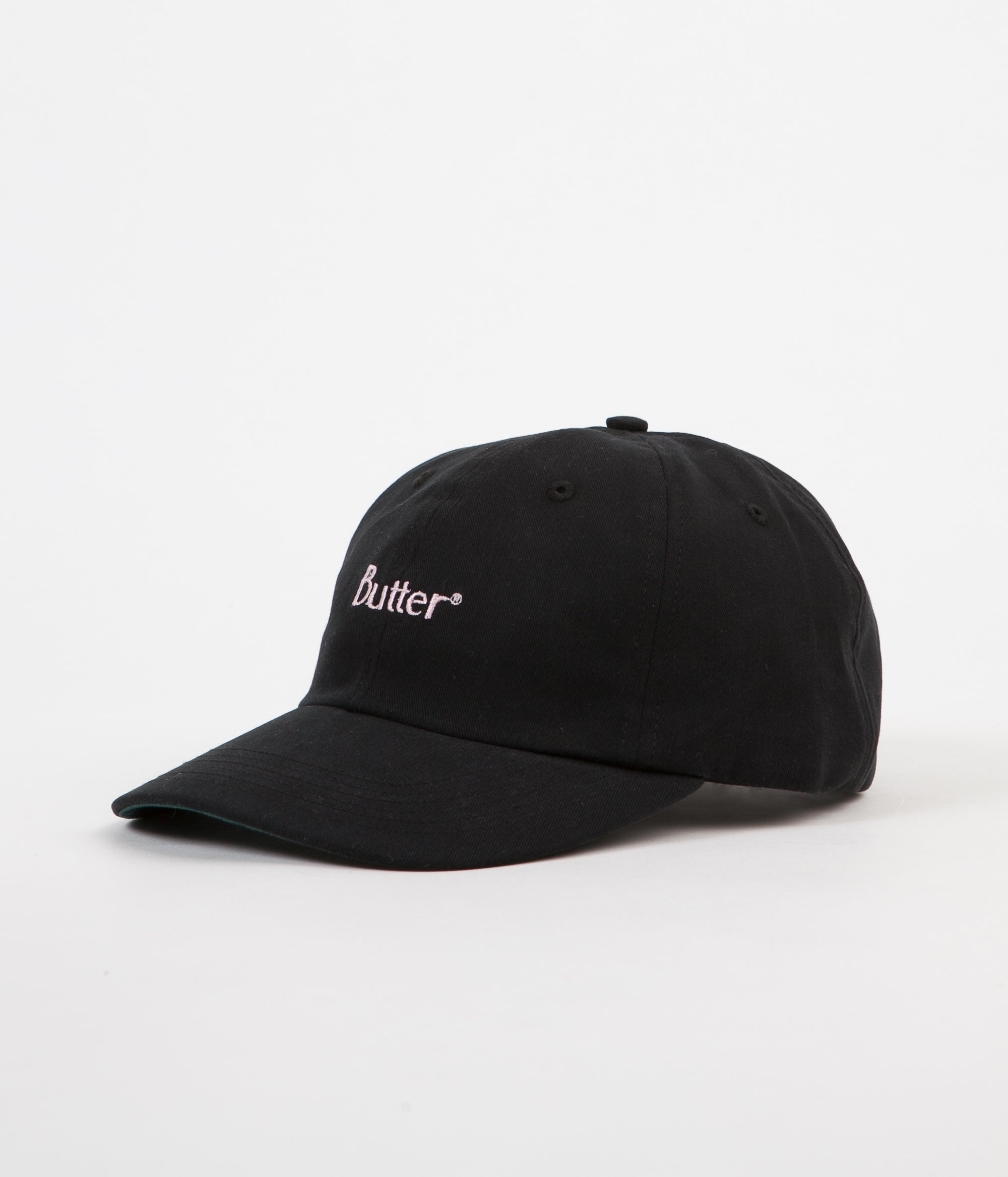 Butter Goods x Flatspot 6 Panel Cap - Black
