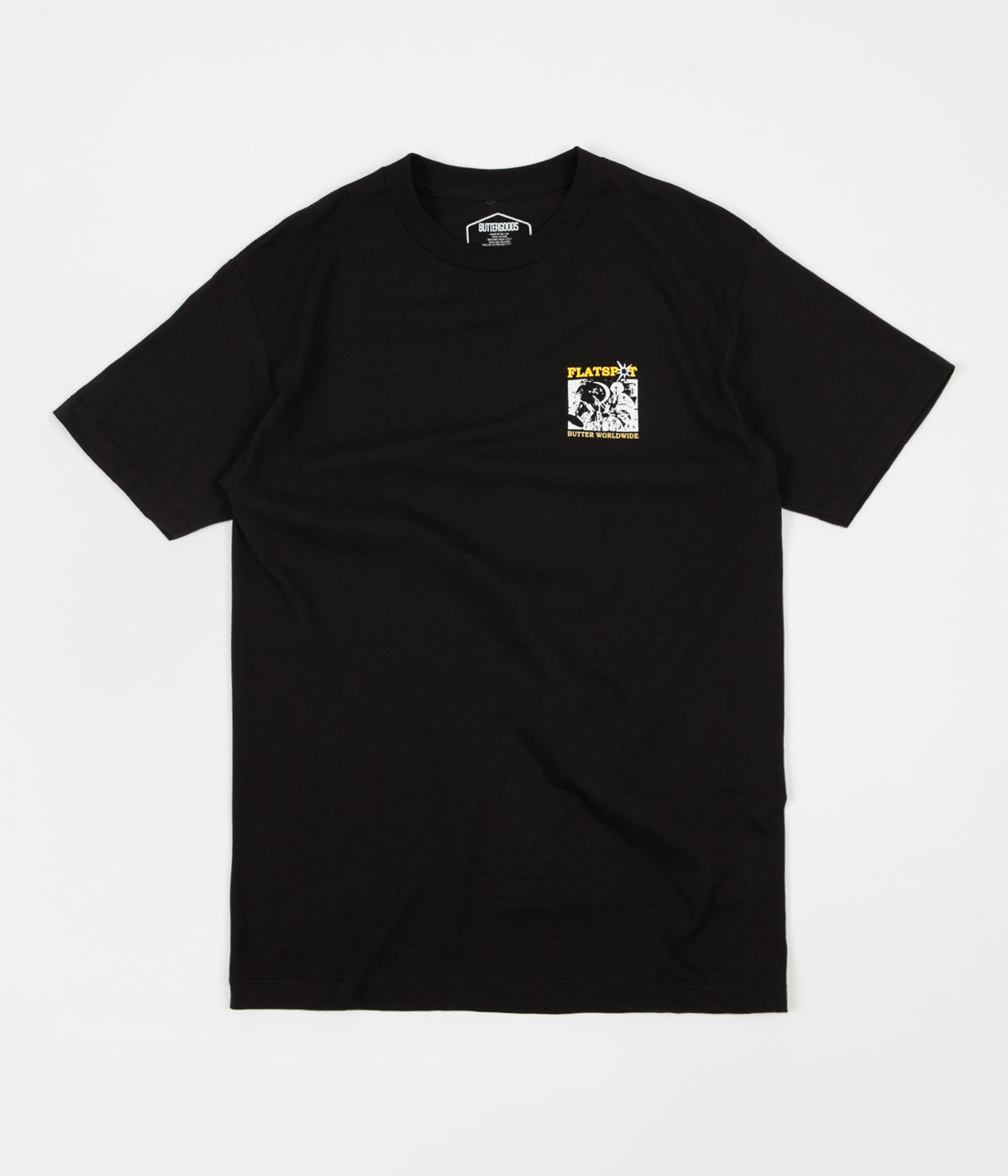 Butter Goods x Flatspot T-Shirt - Black