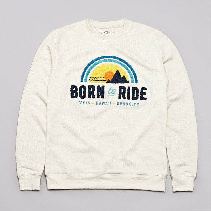 BWGH Born To Ride Sweatshirt Ecru