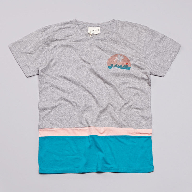 BWGH Palm Tree T Shirt Grey
