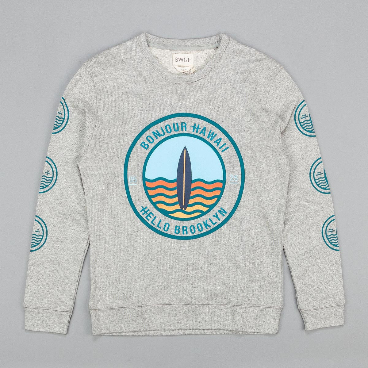 BWGH Surf Sweatshirt Grey / Green