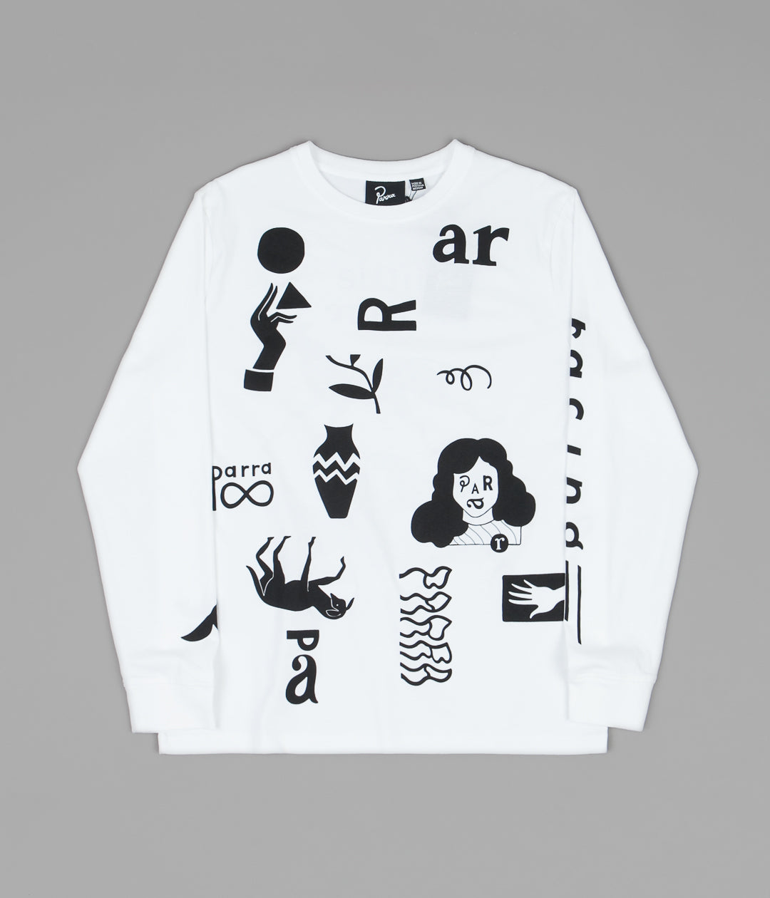 by Parra A Little Pressure Long Sleeve T-Shirt - White