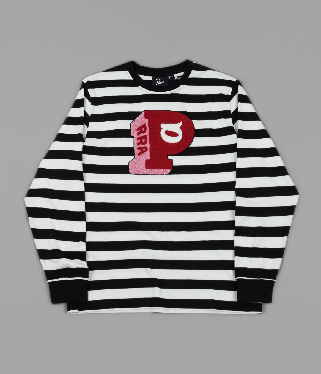 by Parra Block P Striped Long Sleeve T-Shirt - Stripes