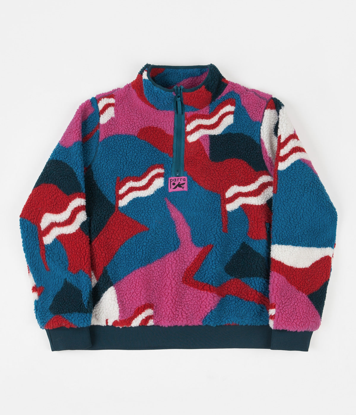 by Parra Flag Mountain Racer Sherpa Fleece - Multi
