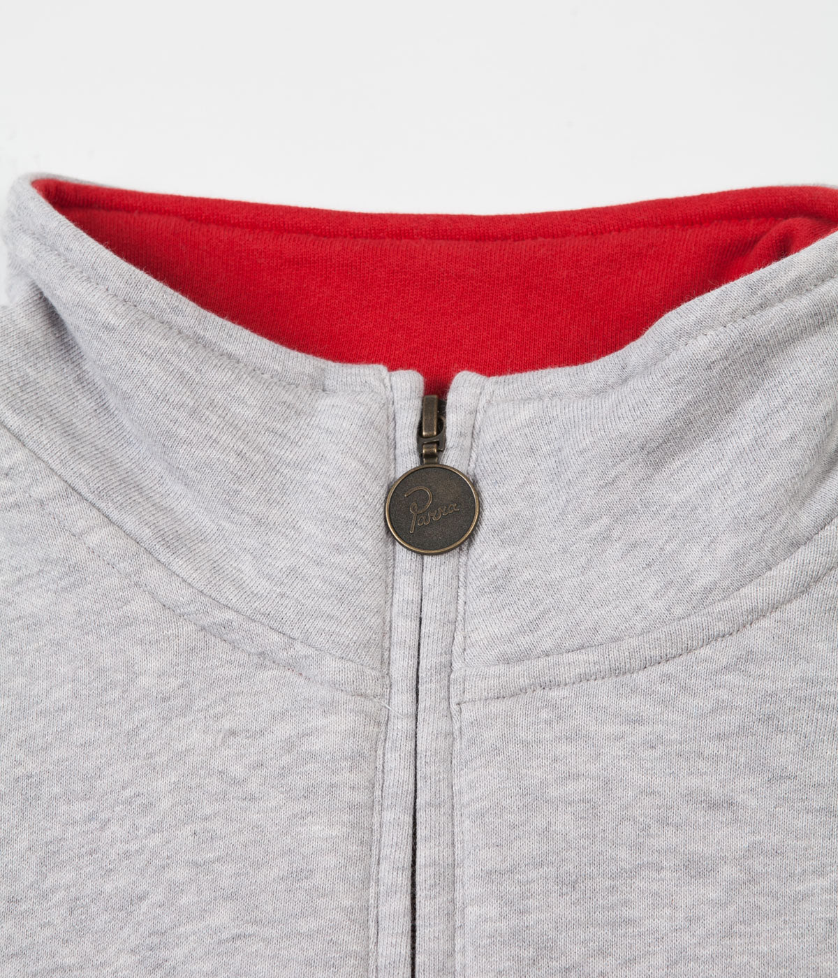 by Parra Sponsored Quarter Zip Sweatshirt - Ash Grey