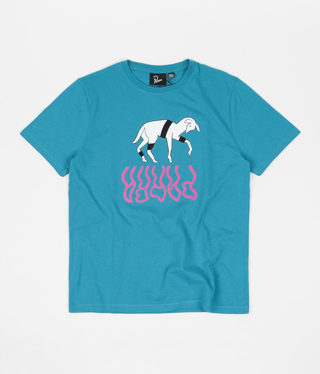 by Parra The Goat Reflection T-Shirt - Caribbean Sea