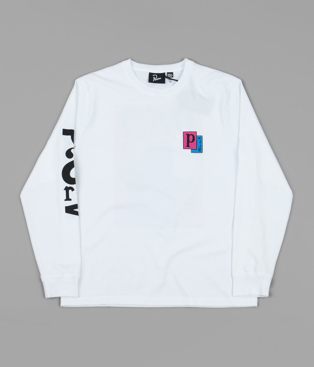 by Parra Twisted Woman Long Sleeve T-Shirt - White