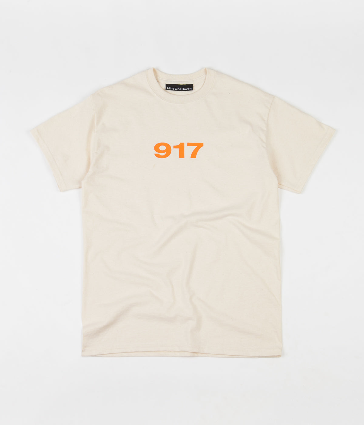 Call Me 917 Block Logo T-Shirt - Creme