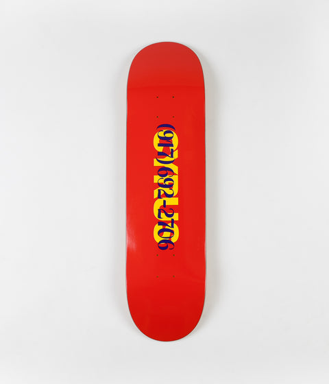 Call Me 917 Cyrus Dialtone Deck - Red - 8.18""