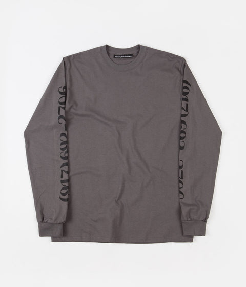Call Me 917 Dialtone Long Sleeve T-Shirt - Charcoal