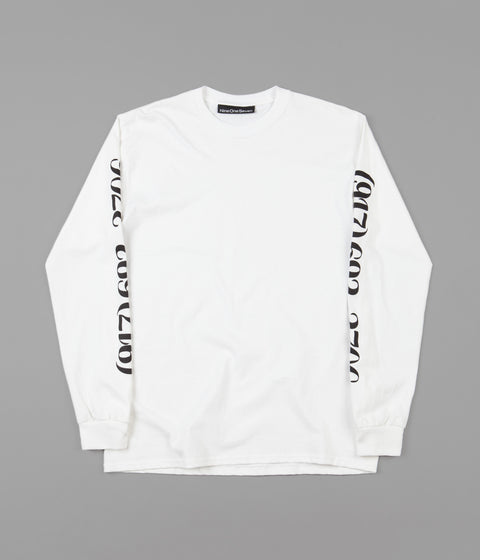 Call Me 917 Dialtone Long Sleeve T-Shirt - White