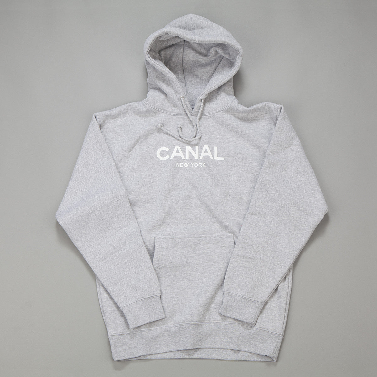 Canal New York Hooded Sweatshirt - Grey