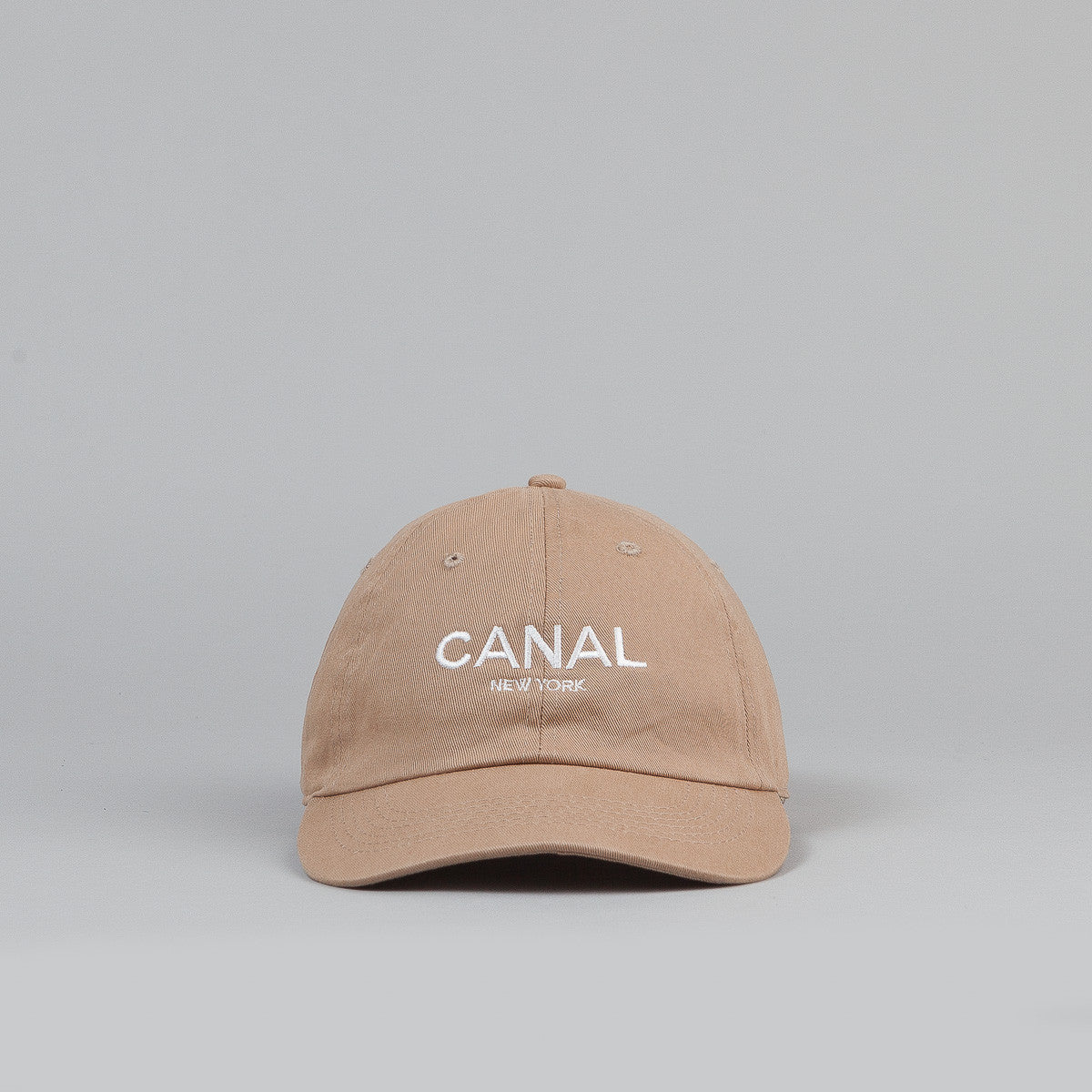 Canal New York Adult Headwear 6 Panel Cap - Khaki