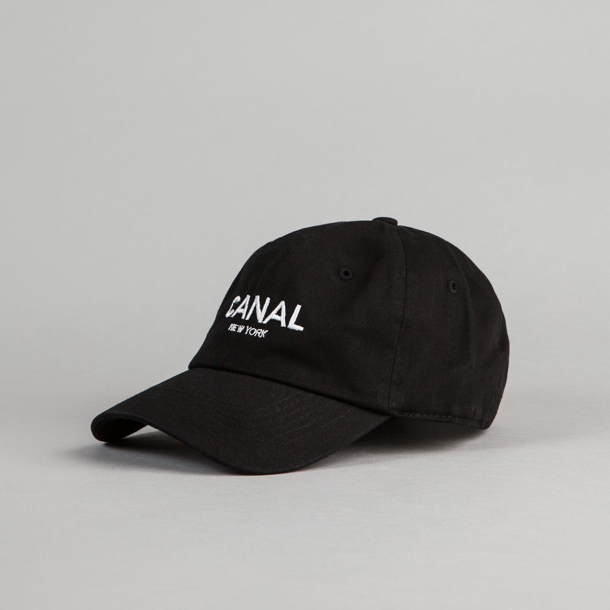Canal New York Adult Headwear 6 Panel Cap - Black