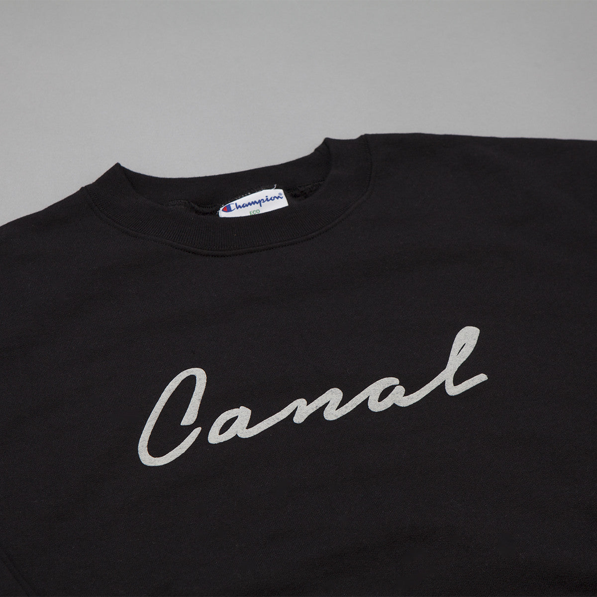 Canal New York Signature Script Crewneck Sweatshirt - Black