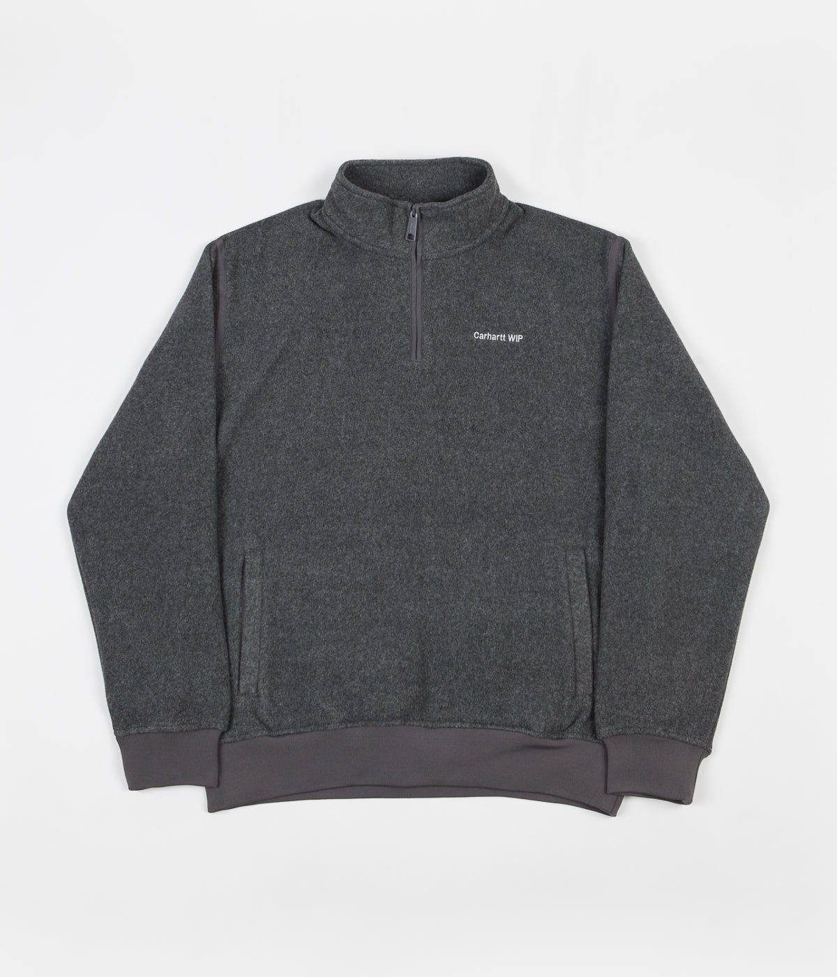 Carhartt Ailey Crewneck Sweatshirt - Grey Heather / White