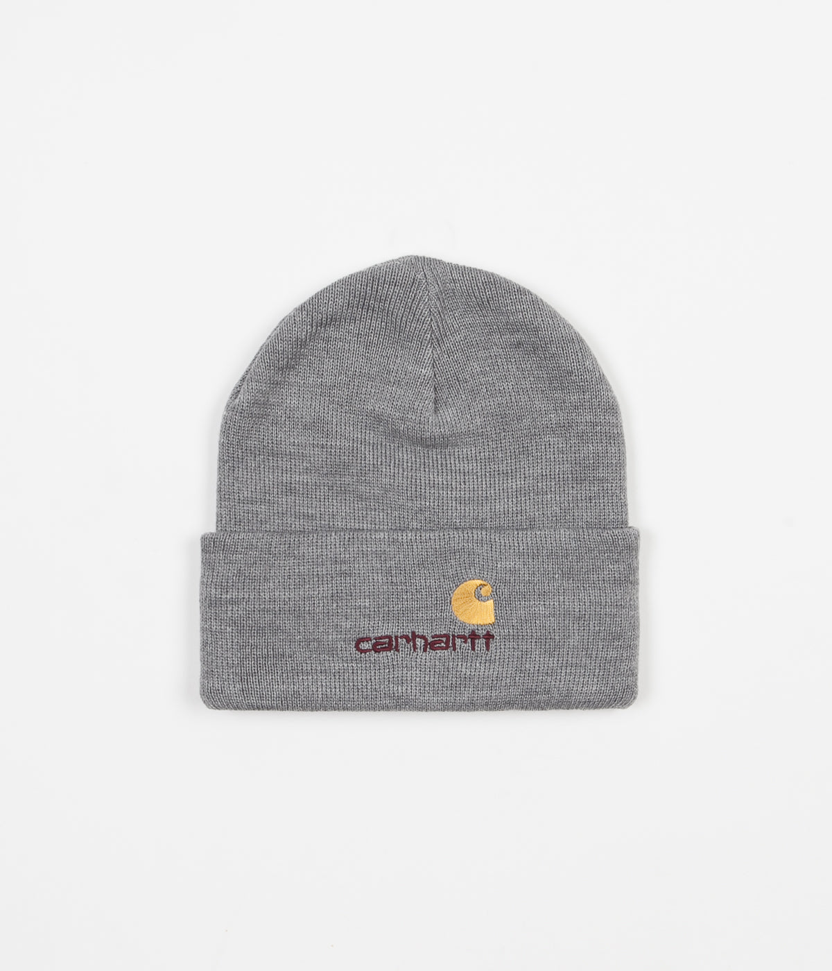 cd953ebc8ff Carhartt American Script Beanie - Grey Heather