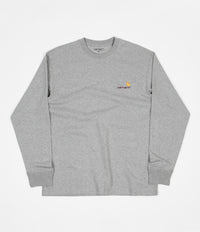 Carhartt American Script Long Sleeve T-Shirt - Grey Heather