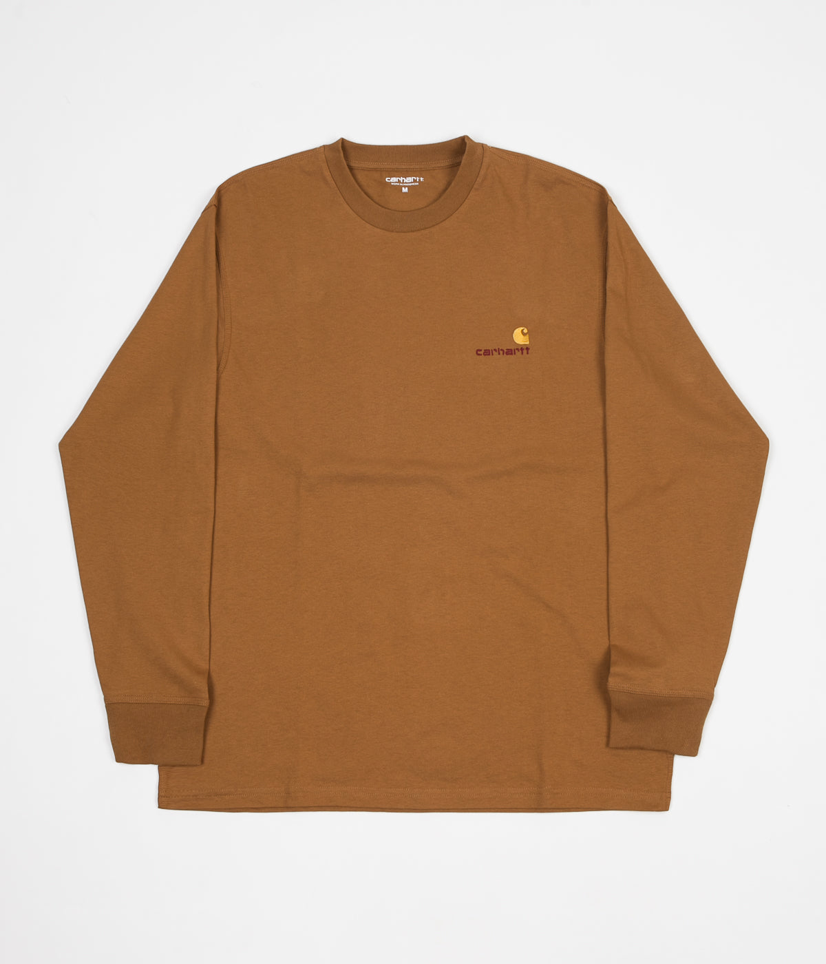 Carhartt American Script Long Sleeve T-Shirt - Hamilton Brown