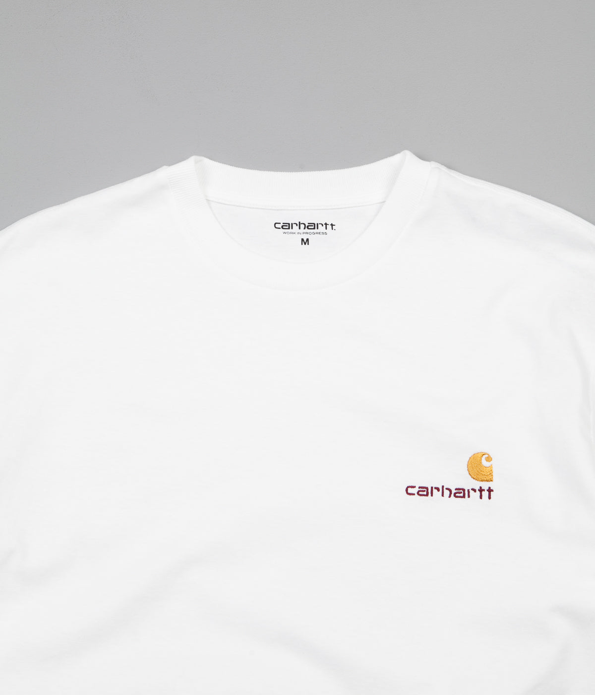 Carhartt American Script Long Sleeve T-Shirt - White