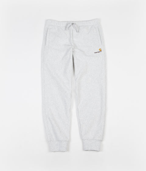 Carhartt American Script Sweatpants - Ash Heather