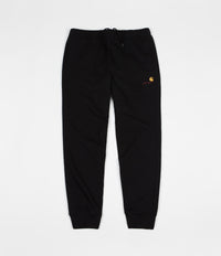 Carhartt American Script Sweatpants - Black / Gold