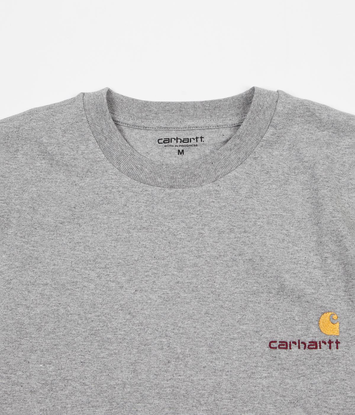Carhartt American Script T-Shirt - Grey Heather