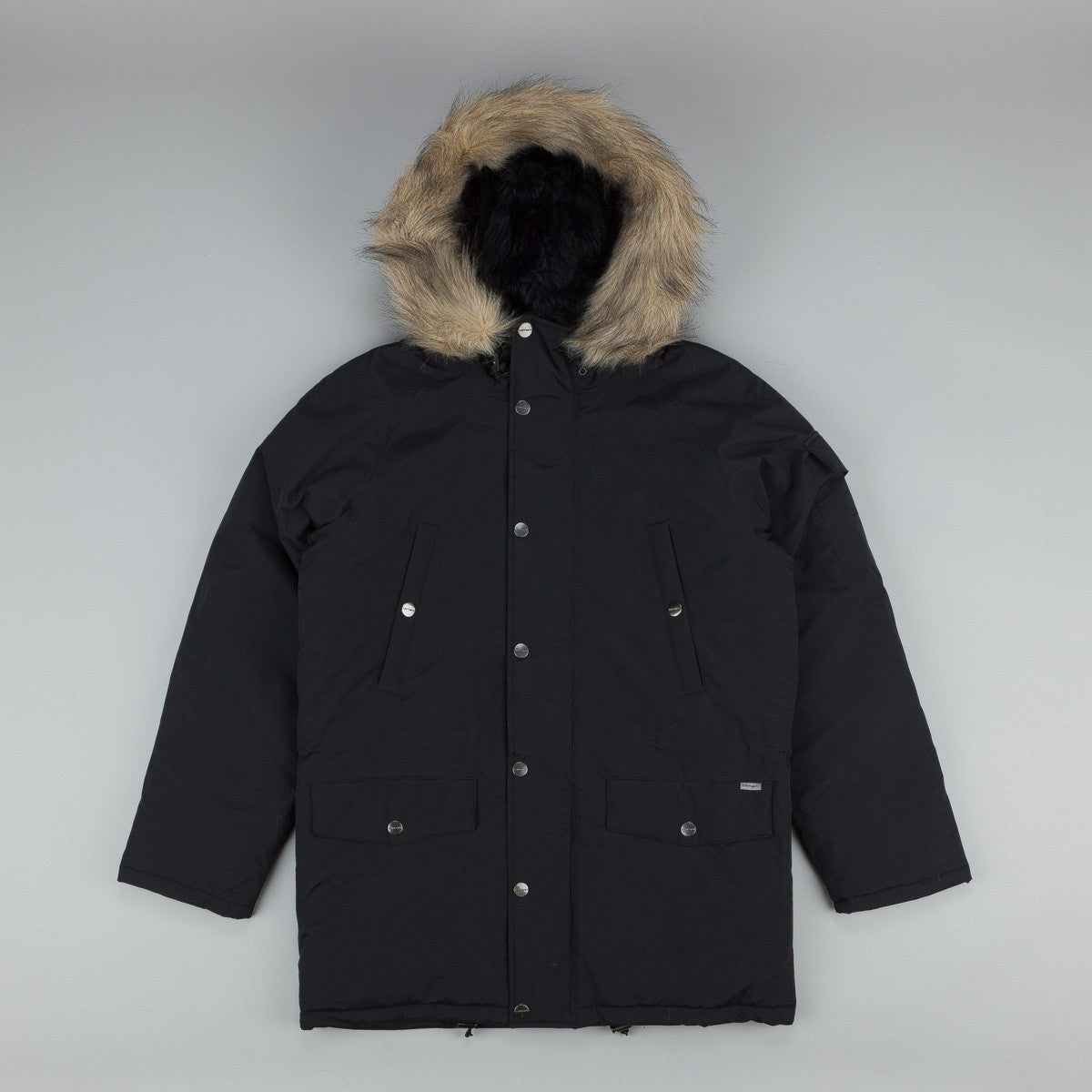 carhartt anchorage parka black black flatspot. Black Bedroom Furniture Sets. Home Design Ideas
