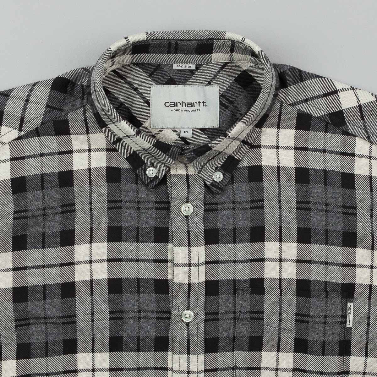 Carhartt Baker Long Sleeve Shirt - Grey Heather Check