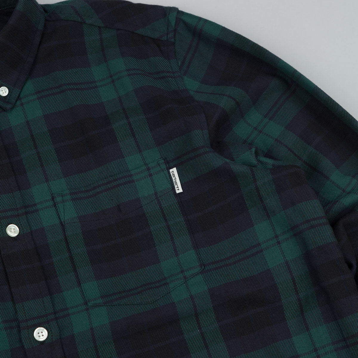 Carhartt Baker Long Sleeve Shirt - Parsley Check
